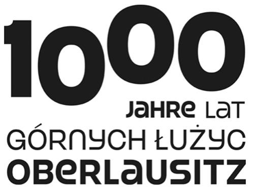 Die Zahl 1000 mit dem Schriftzug Oberlausitz schwarz gedruckt auf weißen Untergrund